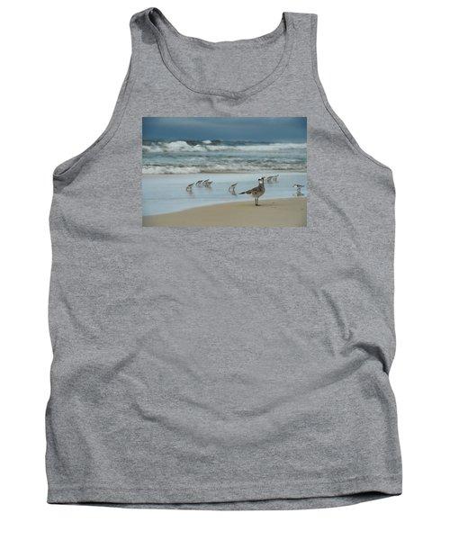 Sandpiper Beach Tank Top by Renee Hardison