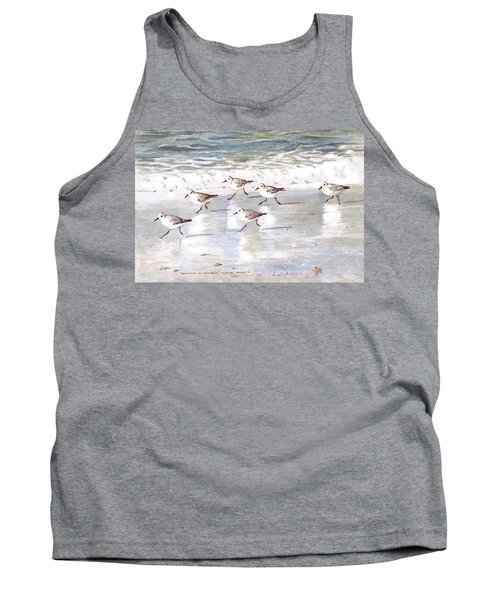 Sandpipers On Siesta Key Tank Top by Shawn McLoughlin