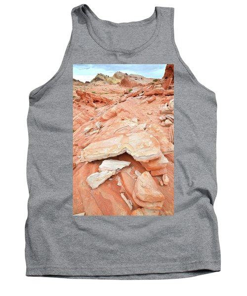Tank Top featuring the photograph Sandstone Heart In Valley Of Fire by Ray Mathis