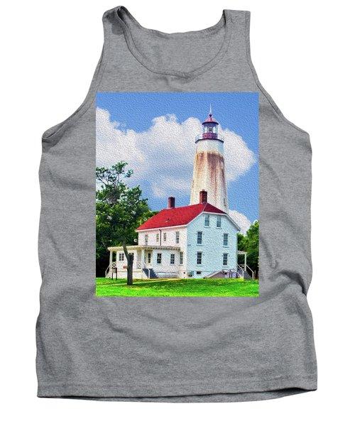 Sandy Hook Light House Tank Top