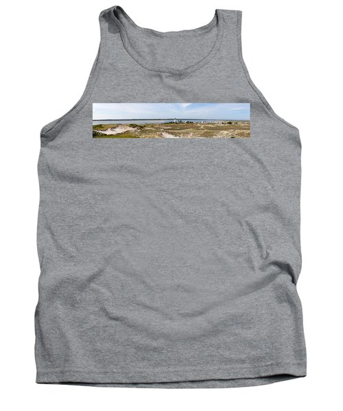 Sandy Neck Lighthouse With Fishing Boat Tank Top