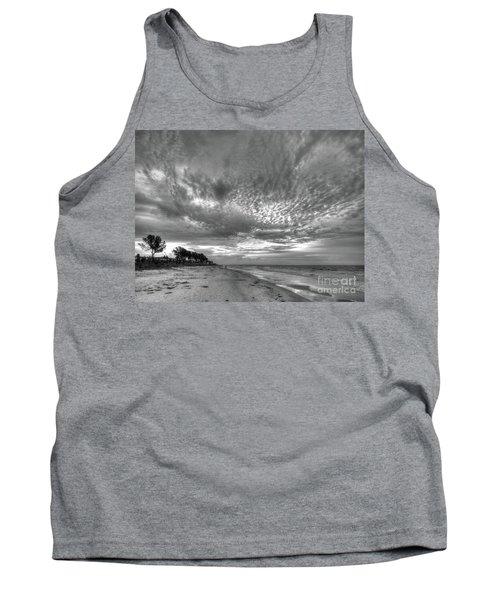 Sanibel Island Sunrise In Black And White Tank Top