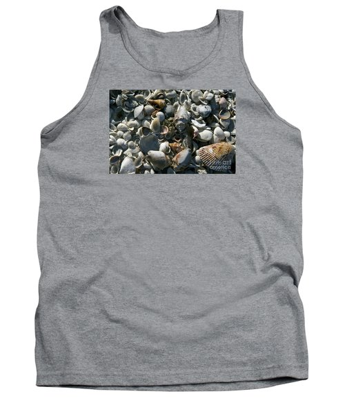 Tank Top featuring the photograph Sanibel Shells by Sandy Molinaro
