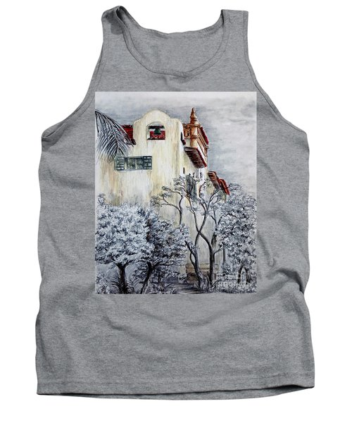 Santa Barbara Courthouse Bell Tower Tank Top