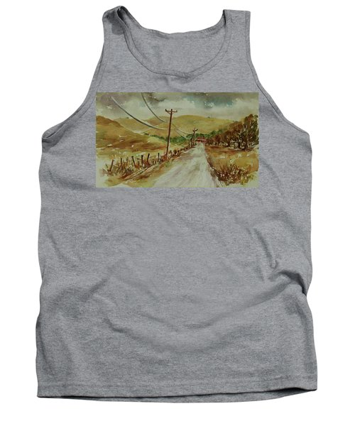 Tank Top featuring the painting Santa Teresa County Park California Landscape 1 by Xueling Zou