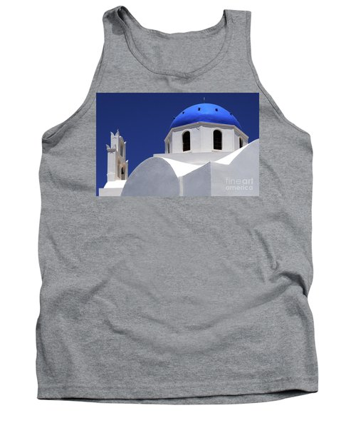Tank Top featuring the photograph Santorini Greece Architectual Line 2 by Bob Christopher