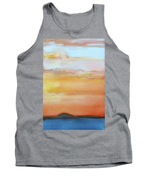 Sapphire Sunrise Autumn Tank Top