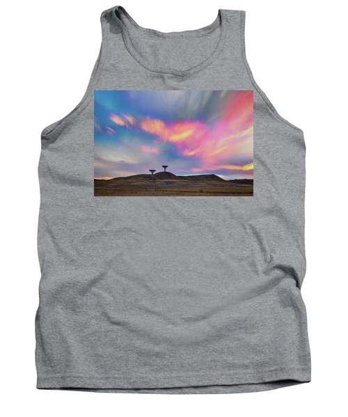 Tank Top featuring the photograph Satellite Dishes Quiet Communications To The Skies by James BO Insogna