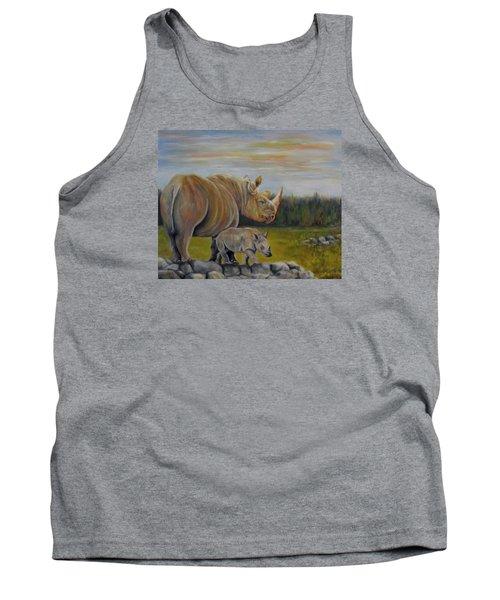 Savanna Overlook, Rhinoceros  Tank Top