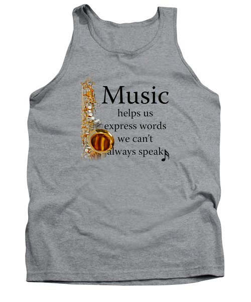 Saxophones Express Words Tank Top