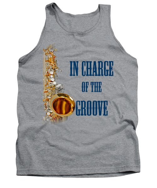 Saxophones In Charge Of The Groove 5532.02 Tank Top by M K  Miller