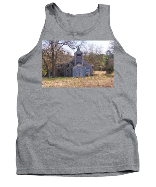 Schoolhouse#3 Tank Top by Susan Crossman Buscho