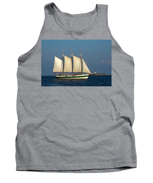 Schooner By Fort Sumter Tank Top
