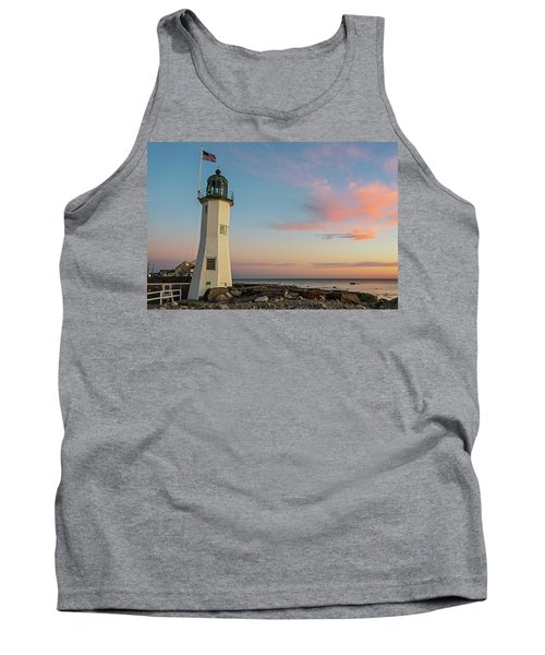 Scituate Lighthouse Scituate Massachusetts South Shore At Sunrise Tank Top