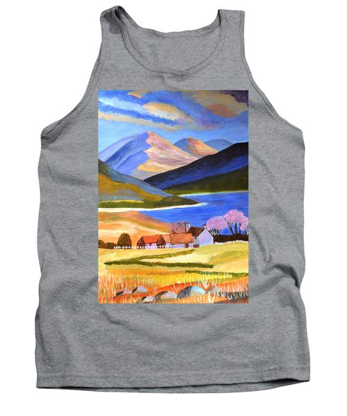 Tank Top featuring the painting Scottish Highlands 2 by Magdalena Frohnsdorff