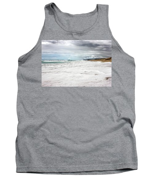 Tank Top featuring the photograph Sea Foam And Clouds By Kaye Menner by Kaye Menner