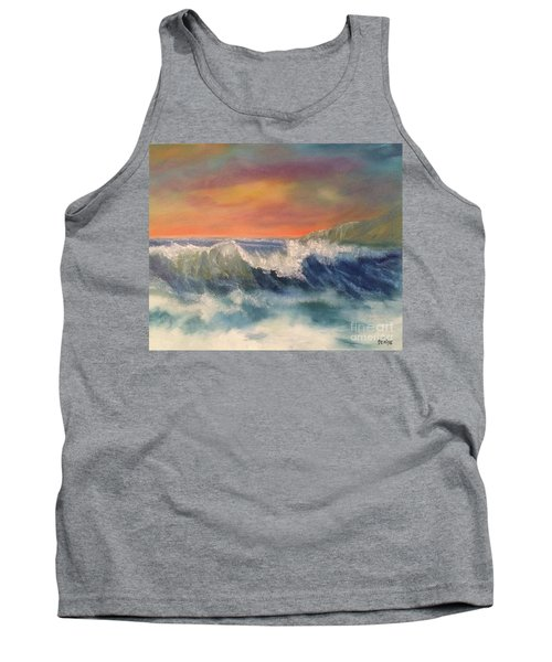 Tank Top featuring the painting Sea Mist by Denise Tomasura