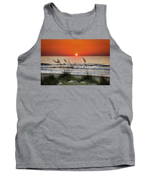 Sea Oats Sunrise Tank Top by Phil Mancuso