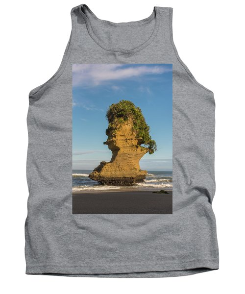 Tank Top featuring the photograph Sea Stack, Punakaiki Beach by Gary Eason
