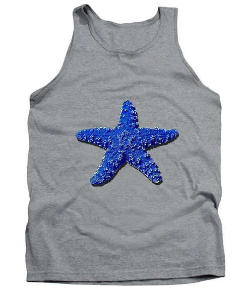 Sea Star Navy Blue .png Tank Top