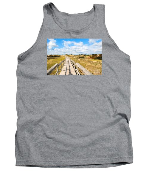 Tank Top featuring the photograph Seabound Boardwalk by Debbie Stahre