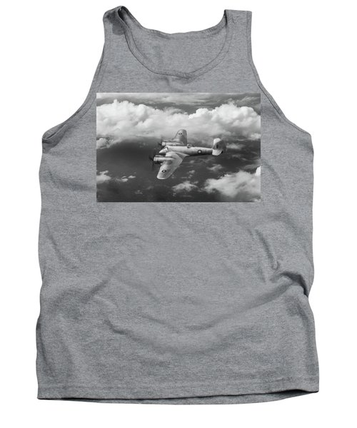 Tank Top featuring the photograph Seac Beaufighter Bw Version by Gary Eason