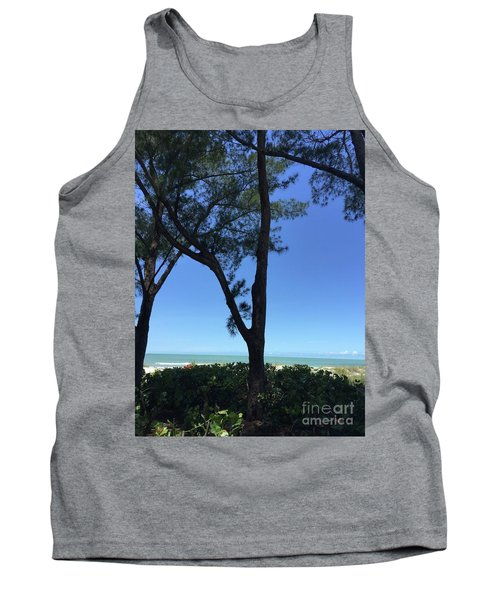 Seagrapes And Pines Tank Top by Megan Cohen