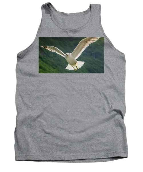 Seagull At The Fjord Tank Top