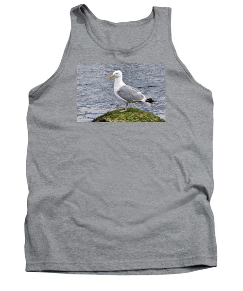 Tank Top featuring the photograph Seagull Posing by Glenn Gordon