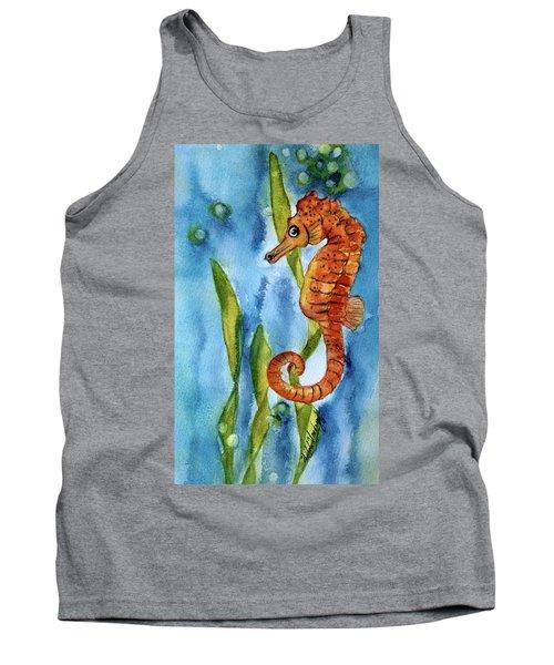Seahorse With Sea Grass Tank Top