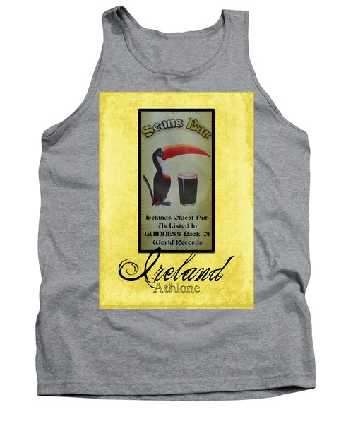Seans Bar Guinness Pub Sign Athlone Ireland Tank Top