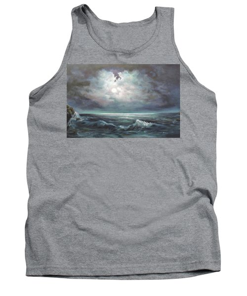 Tank Top featuring the painting Moonlit  by Luczay
