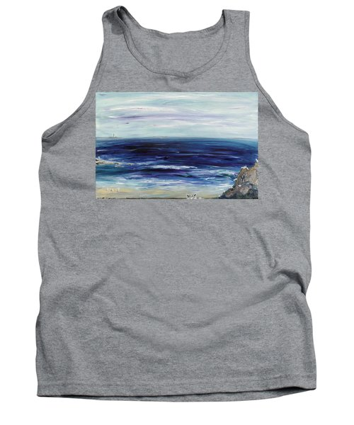 Seascape With White Cats Tank Top