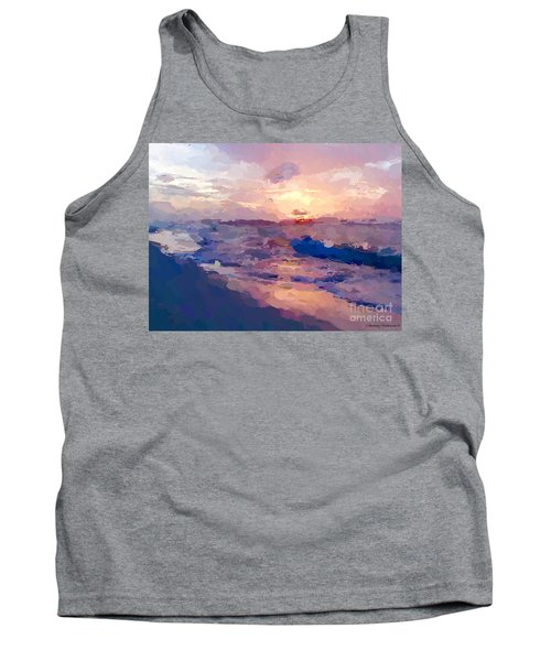 Tank Top featuring the mixed media Seaside Swirl by Anthony Fishburne