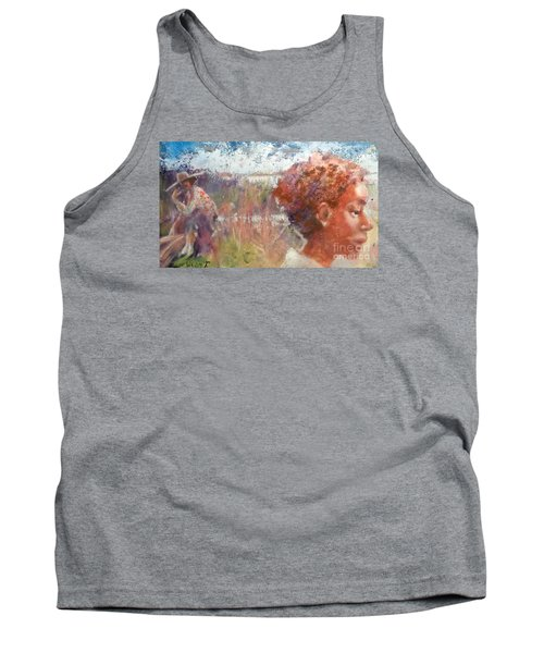 Tank Top featuring the painting Seasons Of Sweetgrass by Gertrude Palmer