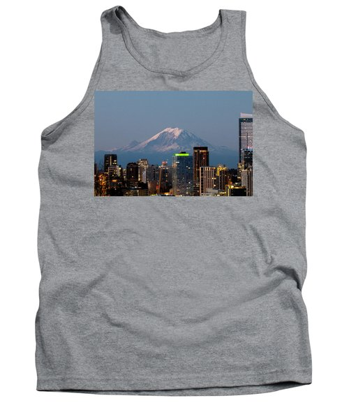 Seattle-mt. Rainier In The Morning Light.2 Tank Top by E Faithe Lester
