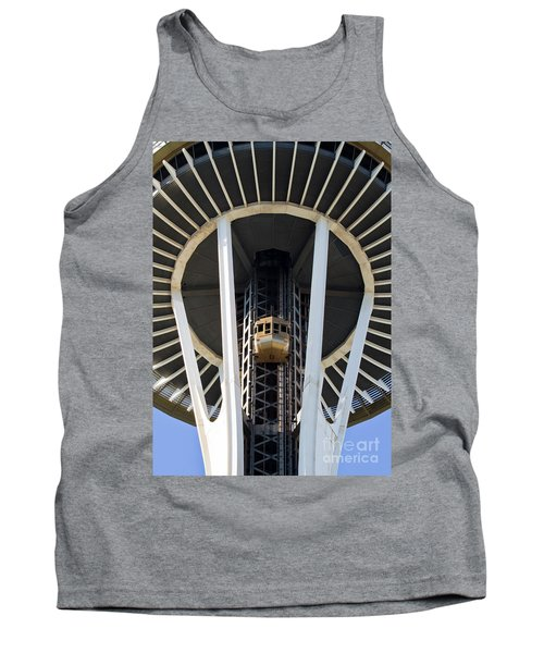 Tank Top featuring the photograph Seattle Space Needle Elevator by Chris Dutton