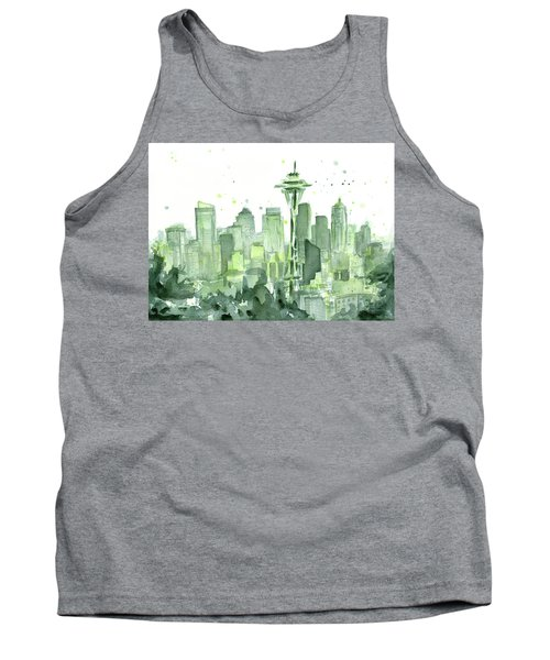 Seattle Watercolor Tank Top