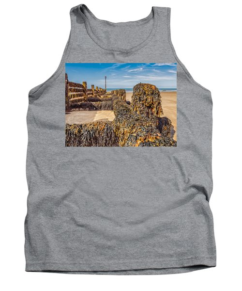 Tank Top featuring the photograph Seaweed Covered by Nick Bywater