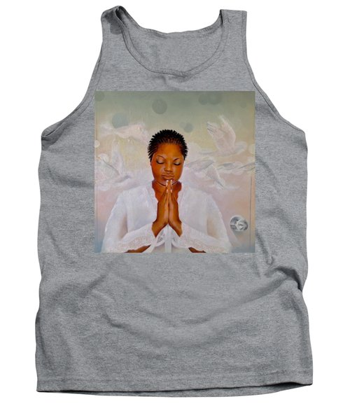 Tank Top featuring the painting Secret Closet by Christopher Marion Thomas