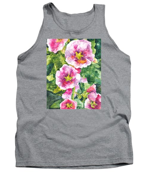 Tank Top featuring the painting Secret Garden by Casey Rasmussen White