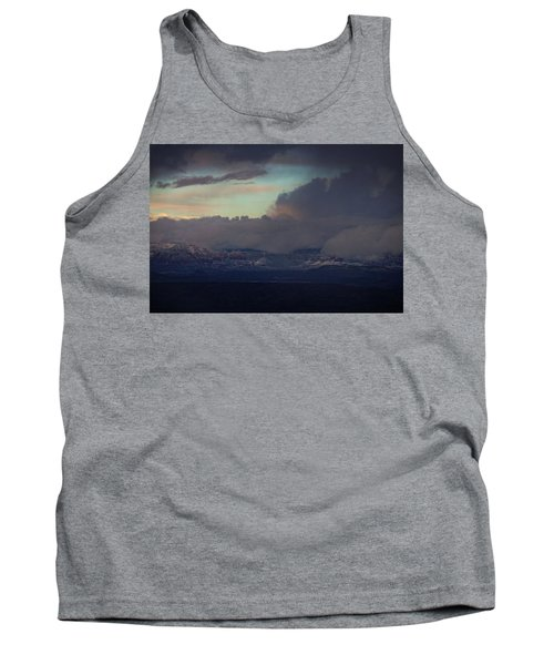 Tank Top featuring the photograph Sedona At Sunset With Red Rock Snow by Ron Chilston