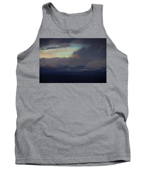 Sedona At Sunset With Red Rock Snow Tank Top