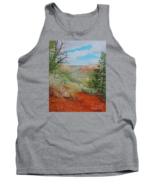 Tank Top featuring the painting Sedona Trail by Mike Ivey