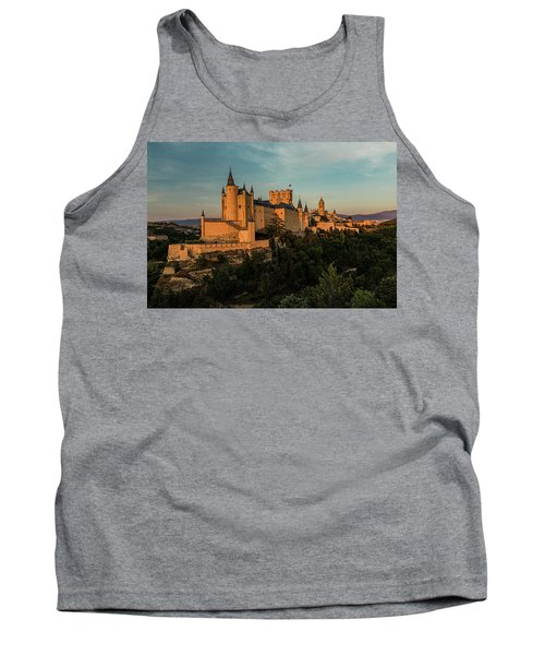 Segovia Alcazar And Cathedral Golden Hour Tank Top