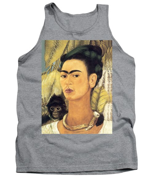 Self Portrait With Monkey  Tank Top