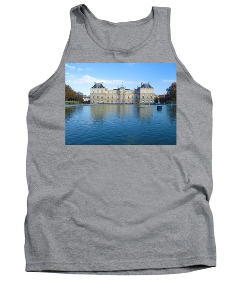 Tank Top featuring the photograph Senat From Jardin Du Luxembourg by Christopher Kirby
