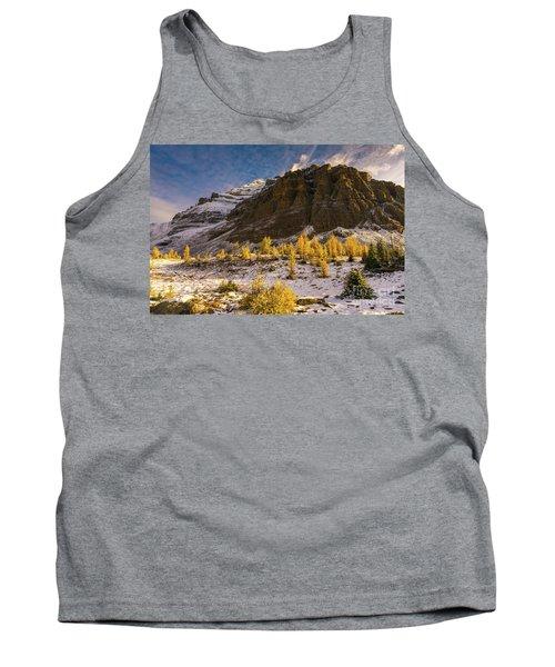 Sentinel Pass Pinnacle Peak Golden Autumn Light Tank Top