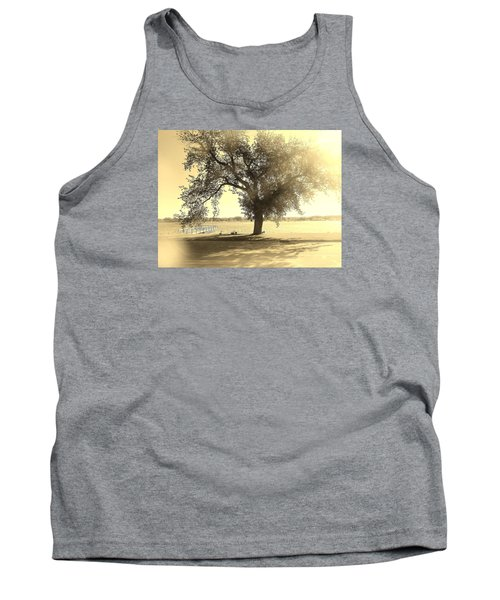 Sepia Colors In A Tree Tank Top