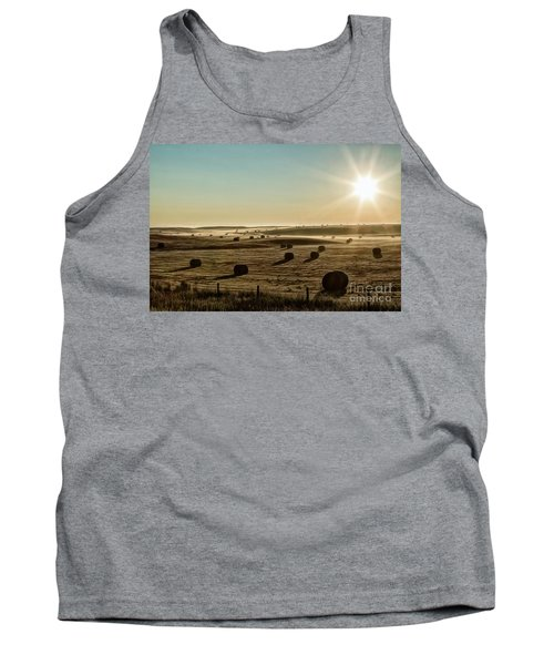 Tank Top featuring the photograph September Hay by Brad Allen Fine Art